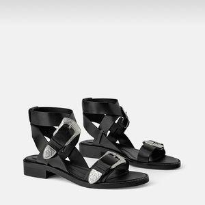 Zara Black Gladiator Sandals